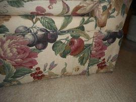 Close-up of Floral/Fruit Patterned Sofa