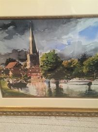 "Paul Raferty Giclee ""The Thames at Abington"""