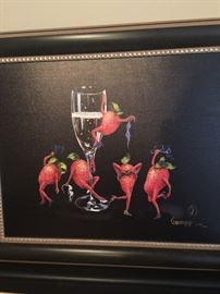 Michael Godard Signed Lithograph - Strawberries Gone Wild.