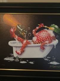 "Giclee Michael Godard ""Bubbly Bath"""