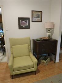 Mid Century Chair, Vintage Linen Press
