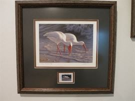 Artist Proof, James Hautman, Texas Parks & Wildlife Collector Stamp