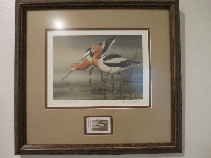 Artist Proof, Sherrie Rusell Menne, Texa Parks & Wildlife Collector Stamp