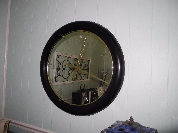 Large mirrored wall clock, unique!