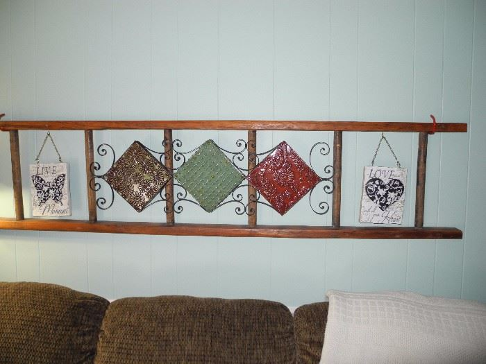 Decorative ladder wall hanging