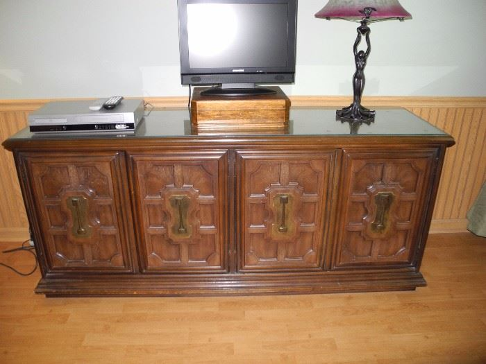 Large dresser, tv not for sale