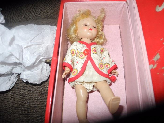 Vintage Ginny doll in original box with clothing