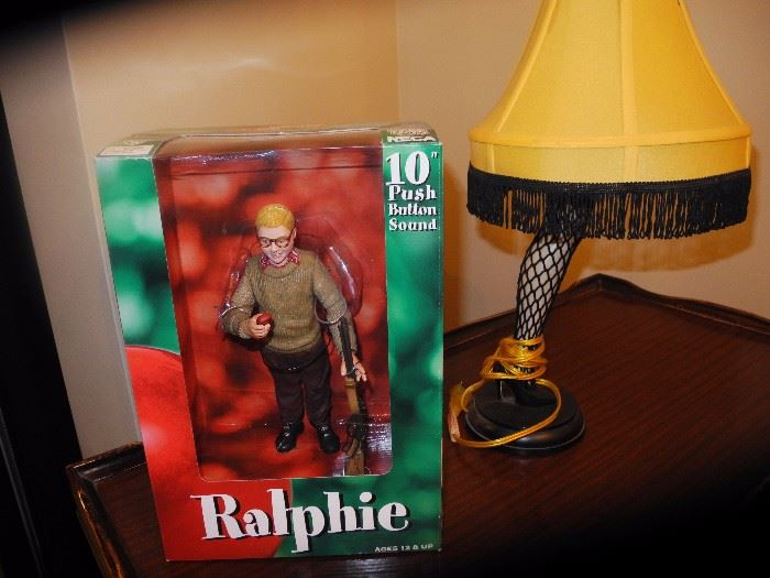 "Ralphie and the ""leg"" lamp from A Christmas Story"