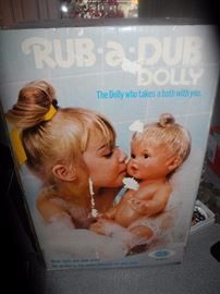 Vintage Rub a Dub dolly