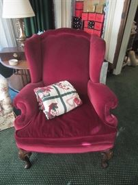 Two Cannell & Chaffin wing chairs