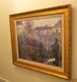 'Artist in the garden' framed print