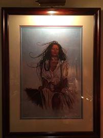 Signed art by Penni Anne Cross (Alawa-sta-we-ches).
