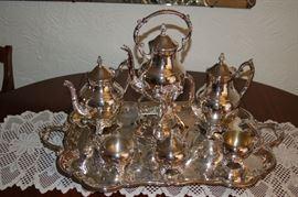 F.B. Rogers silver tea set