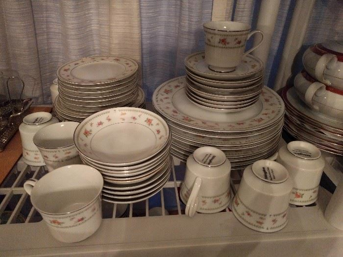 52-Piece set of Abingdon china