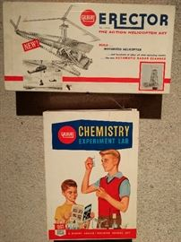 Cool, vintage kid's toys, and board games. These are both in metal boxes - LOVE!