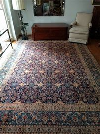 "The rug collection in this house is simply amazing! Another stunning hand woven, 100% wool Persian rug! This one is a Kashan, measuring 11' 10"" x 8' 5""."