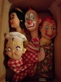 Scary box of hand puppets - Krampus likes these!