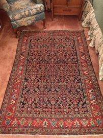 "GORGEOUS Persian Ferahan Sarouk, 100% wool, hand woven, measures 4' 6"" x 6' 6""."