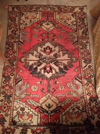"Love this Persian Bakhtiari 100% wool, hand woven rug, measures 4' 1' X 6' 4""."