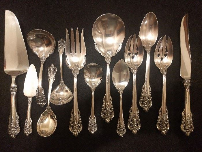 The 13 Grand Baroque sterling servers.