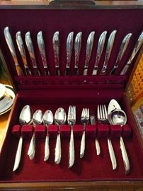 71-Piece set of Oneida Community Stainless *Twin Star* Atomic Age flatware