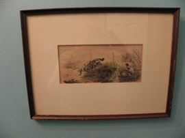 1800s etching