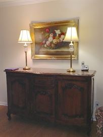 Gorgeous antique French sideboard / cabinet