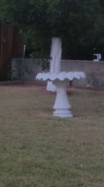 Vintage cement 2 pc. Bird bath SATURDAY PRICE - $20!