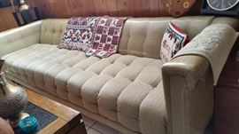 7ft long Mad Men Style VIntage Sofa - SATURDAY PRICE IS $75!
