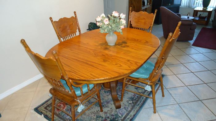 OAK DINING SET MINT