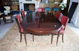 Large Mahogany dining table and Set of 10 chairs made by A Rudin