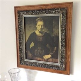 ONE OF SEVERAL ANTIQUE PICTURE FRAMES