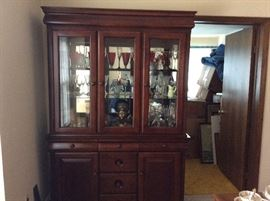 CHINA CABINET FULL OF STUFF