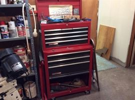 ONE OF 4 HUGE CRAFTSMAN TOOL BOXES FULL OF TOOLS
