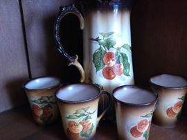 vintage porcelain chocolate set