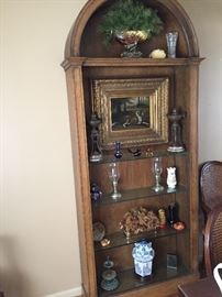 Solid wood arch cabinet
