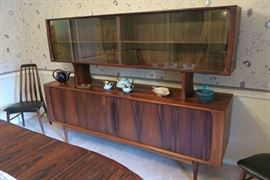 MCM Danish Rosewood Floating Hutch