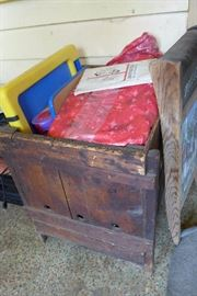 Old wood crate , toys