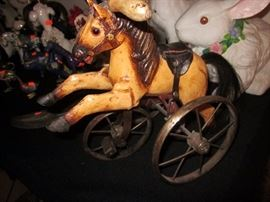 Miniature toy horse tricycle...Cool