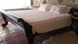 Hand made king size bed. Originally made for missionaries in the Phillipine islands.