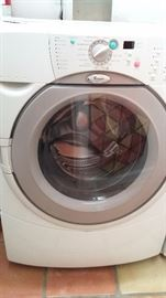 Whirlpool Duet washer and gas dryer.
