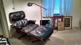 Herman Miller Eames chair and ottoman.