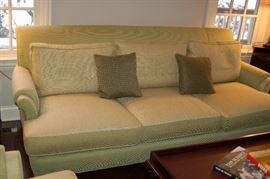 Light green/ivory Baker couch