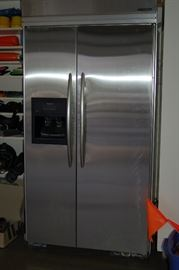 "KitchenAid stainless steel refrigerator 42-1/2"" wide x 84"" tall"