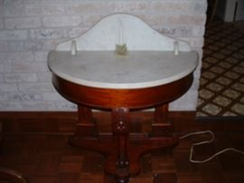 Wonderful Victorian demi-lune marble top table