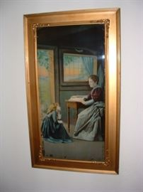 antique reverse printed image