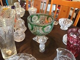 Fine Crystal bowls, vases and candy dishes