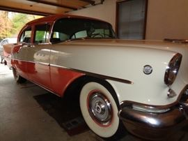 1955 OLDS 88 Rocket 34,437 miles V8, White walls Beautiful condition.