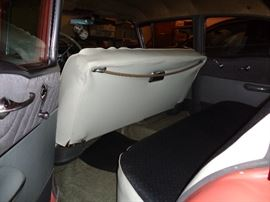 1955 OLDS 88 Rocket 34,437 miles V8, White walls Beautiful condition. Salman and White org color.