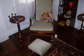 Eastlake rocker with matching footstool